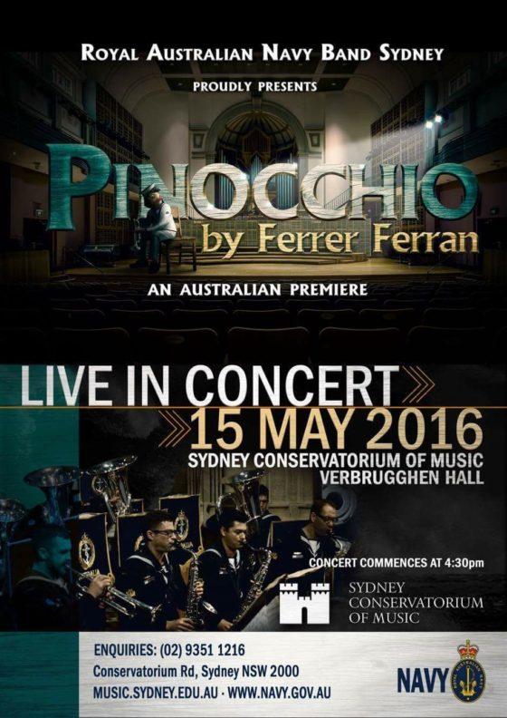 Pinocchio Australia 15 Mayo